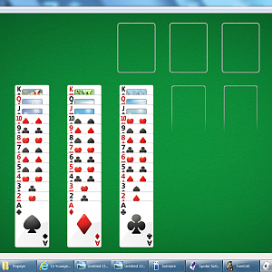 Solitaire All 52 Cards In Play Area! #01