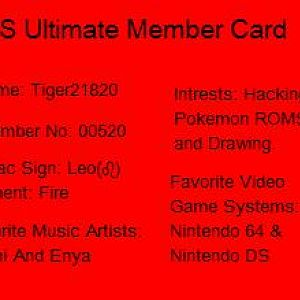 DS Ultimate Forums Member Card